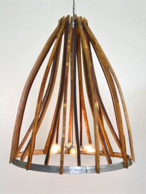 Bisala - Wine Barrel Chandelier