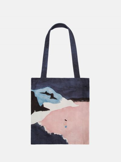 bolsa canvas paisaje duna rosa