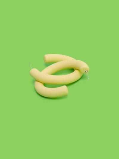 pendientes aro amarillo pastel