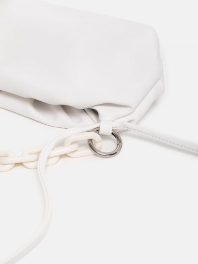 bolso cloudy square blanco detalle