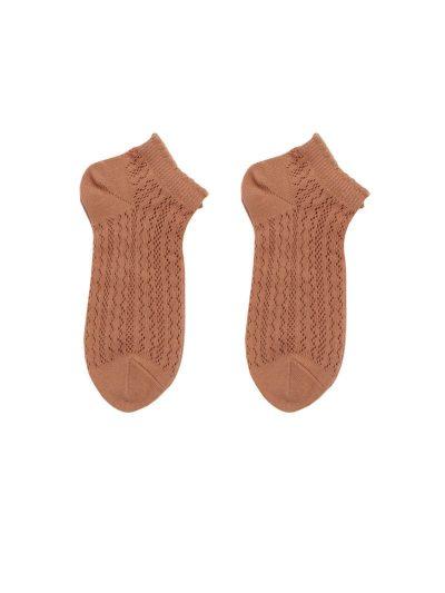 calcetines crochet rojo