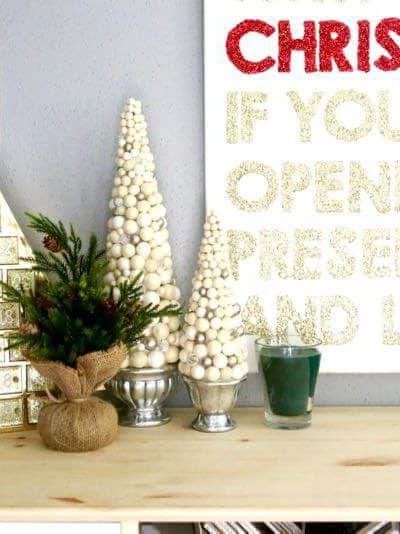 Tips, tricks, and ideas for creating a gorgeous Christmas vignette. There are some great tips here for decorating your home for the holidays!