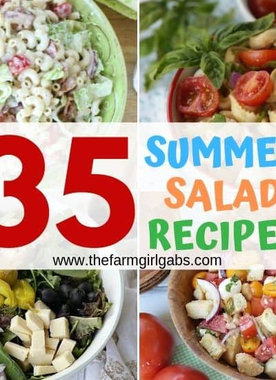 Memorial Day Weekend is here and that means it the official kickoff to summer. Planning to celebrate at a picnic or backyard BBQ? Here are 35 Summer Salad Recipes to celebrate summer.