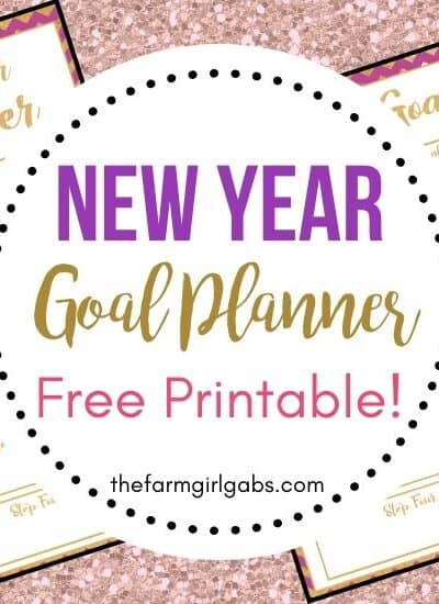 Set some goals for yourself this year. Download this free printable New Year Goal Planner to help you track and achieve success this year.