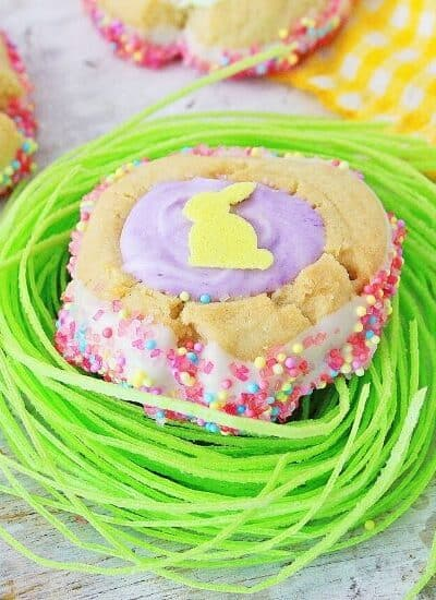 These homemade Easter Thumbprint Cookies are a sure sign of spring. Bake a batch of these easy colorful holiday cookies to share today.