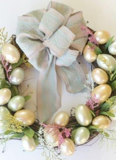 Easter Egg Wreath DIY Dollar Store Craft