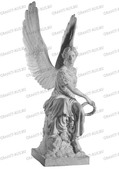 Скульптура Ангел с венком в руке СК-л 040