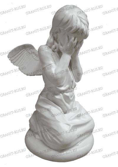 Скульптура из литьевого мрамора на могилу ангел плачущий