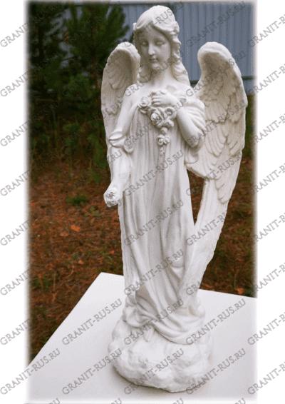 Скульптура с цветами на камне СК 015