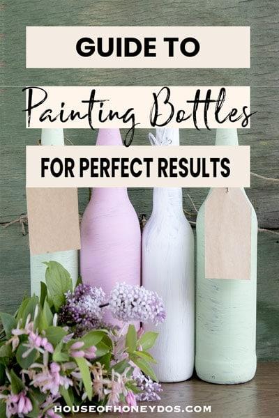 painted wine bottles pin