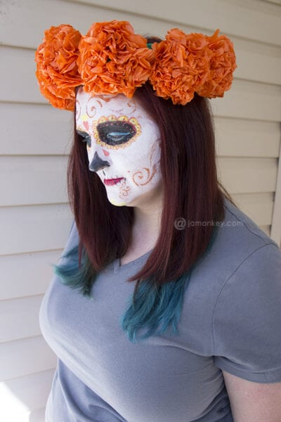 Paper Mexican Marigold Flower Head Piece Craft