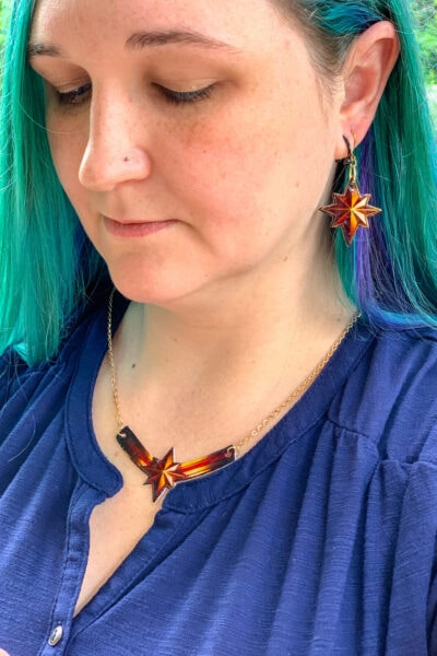 DIY Captain Marvel Jewelry
