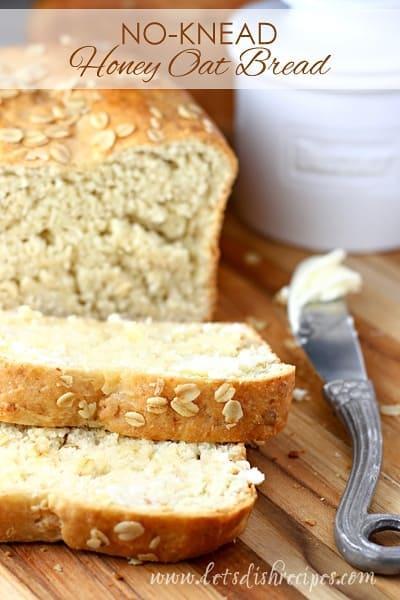 No-Knead Honey Oat Bread