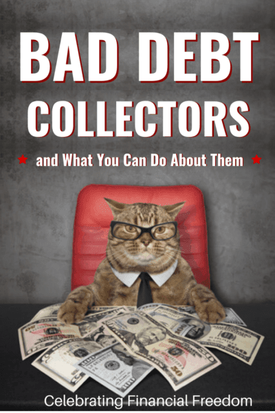 Bad Debt Collectors and What to Do About Them- cat at a desk with money