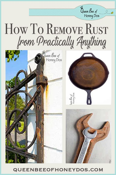 How to Remove Rust from Practically Anything - The complete DIY for removing rust from any surface, and the correct products to use. Repair it the right way!