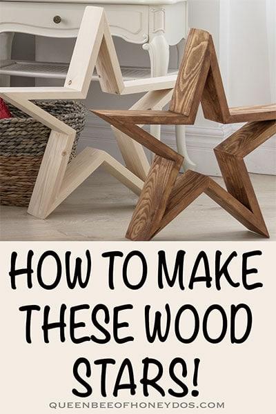 How to make wood stars - pin