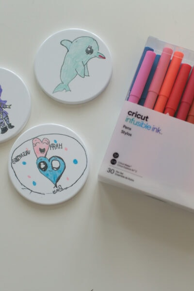 how to make coasters with infusible ink markers and pens
