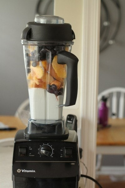 vitamix yogurt and fruit smoothie
