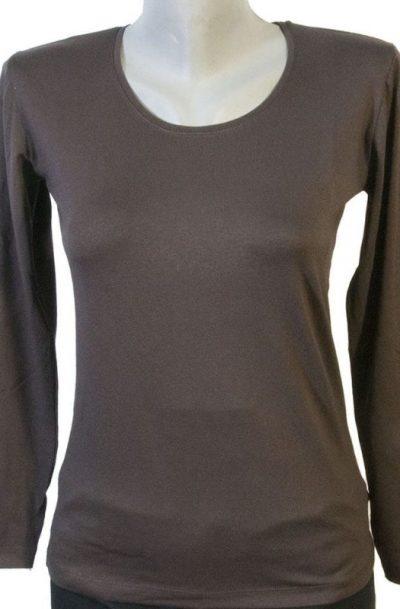 Дамска блуза кафяв цвят
