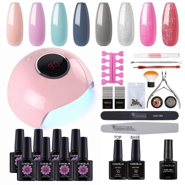 Coscelia Gel Nail Polish Starter Kit for a manicure at home | 40plusstyle.com