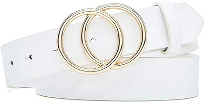 Ifendei leather double ring belt | 40plusstyle.com
