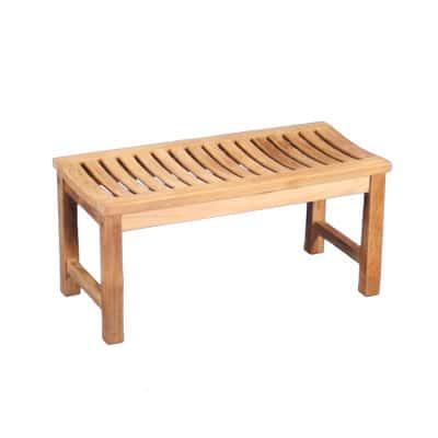"36"" Outdoor Teak Backless Bench"
