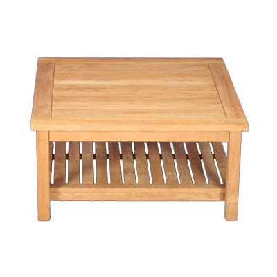 "Outdoor Teak 36""square two level coffee table"