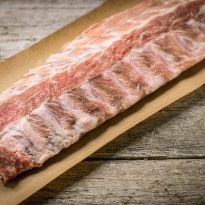 Côtes levées de dos porc