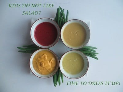 Kids do not like salad? Dress it fancy.