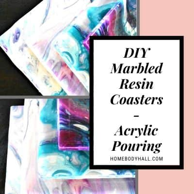 DIY Marbled Resin Coasters - Acrylic Pouring