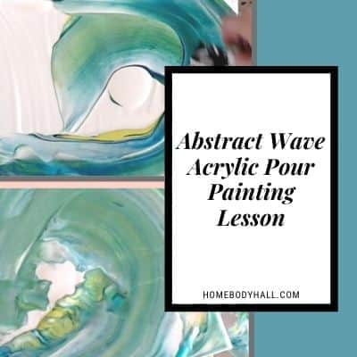 Abstract Wave Acrylic Pour Painting Lesson