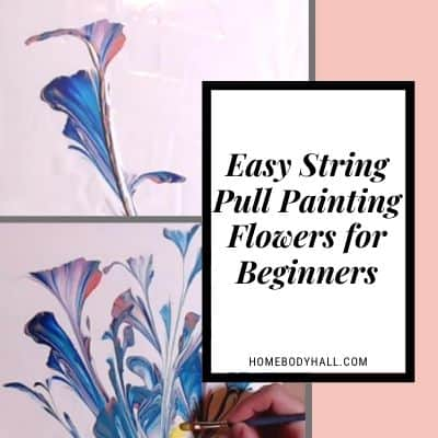 Easy String Pull Painting Flowers for Beginners