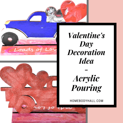 Valentine's Day Decoration Idea - Acrylic Pouring