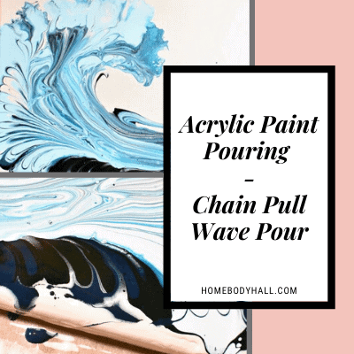 Acrylic Paint Pouring Chain Pull Wave Pour