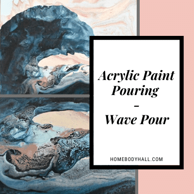 Acrylic Paint Pouring Wave Pour