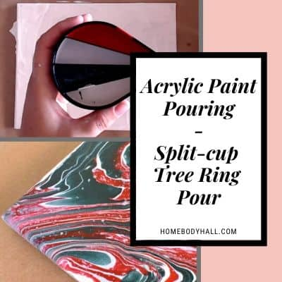 Acrylic Paint Pouring Split-cup Tree Ring Pour