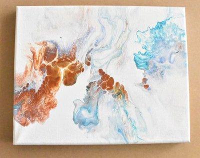 line dutch pour complete painting