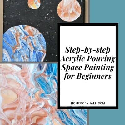 Step-by-step Acrylic Pouring Space Painting for Beginners