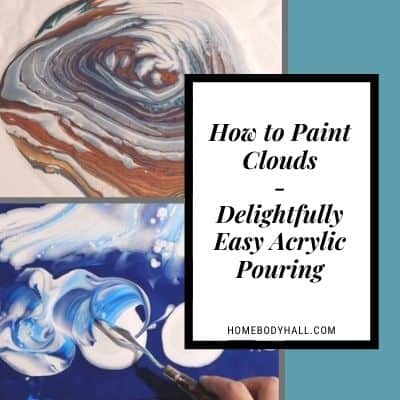How to Paint Clouds - Delightfully Easy Acrylic Pouring