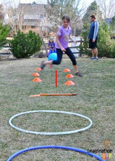 DIY Obstacle Course in the Backyard