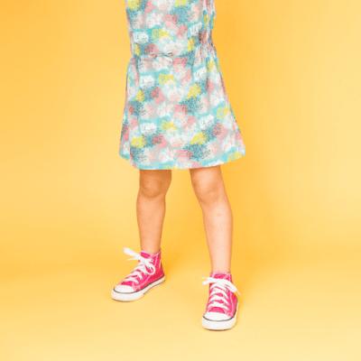 Mädchenkleid Sari Koralle GOTS bei Kleidermarie