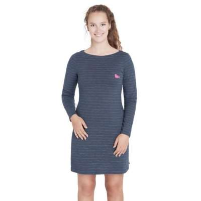 loud + proud Langarm Jersey Frauenkleid midnight