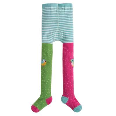 Frugi Fun Knee Tights Hotchpotch_Finches
