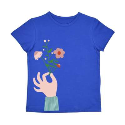 Baba Babywear T-Shirt flower royalblue