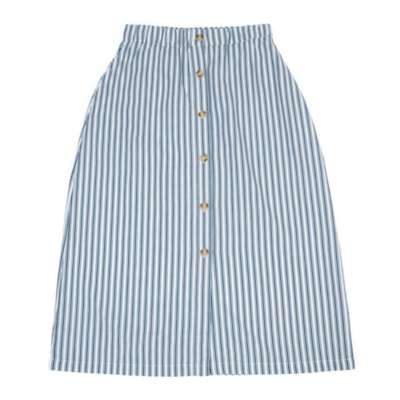 Lily Balou Frauen Rock skirt boat stripe teal blue