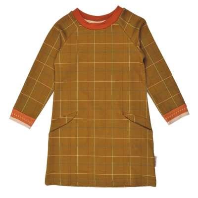 Baba Babywear Mädchenkleid mit Taschen senfgelb kariert