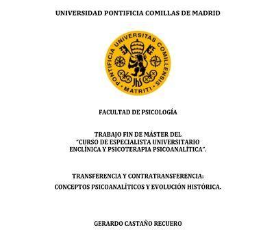 TFM La transferencia - Gerardo Castaño Recuero