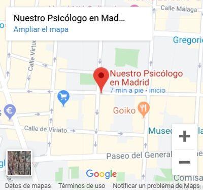 Nuestro Psicólogo en Madrid en Google Maps