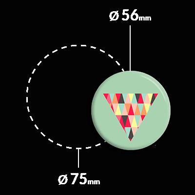 przypinka lustro kolorowe trójkąty