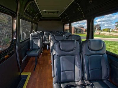 10-12 seater Mercedes Sprinter hire with driver